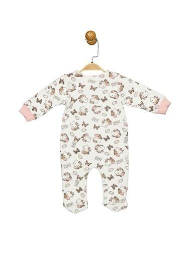 Hello Kitty Lisanslı Bebek Patikli Tulum 17477 Ekru